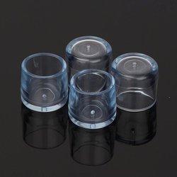 Nakładki ochronne na nogi meblowe - okrągłe 16mm - 4 szt - Osłona silikonowa na nóżki