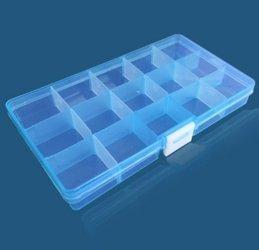 Organizer 15 przegródek 175x100x22mm - niebieski - pojemnik na drobiazgi