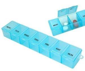 Pojemnik na leki tygodniowy - Pudełko z 7 przegródkami - Organizer