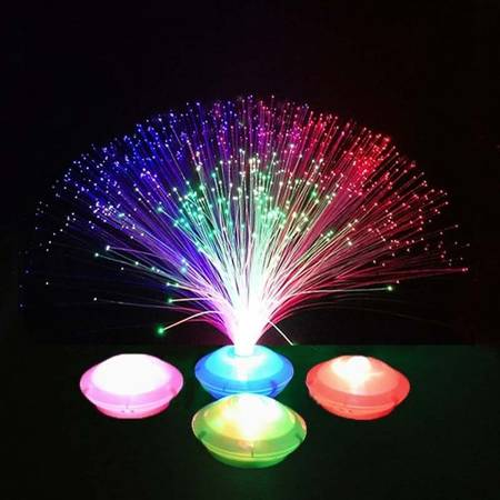 Lampka Światłowodowa UFO - LED - automatyczna - lampa bezprzewodowa - 30cm