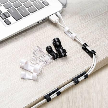 Organizer do kabli 6mm - 20szt transparentny - uchwyt na wiązkę przewodów