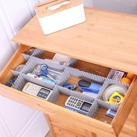 Przegródki do szuflady 37x7cm - Organizer do szafy - 4 szt