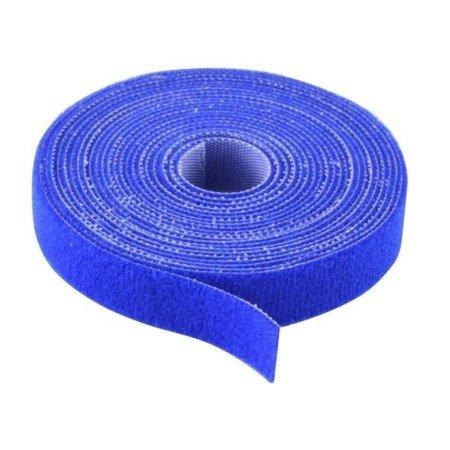 Rzep dwustronny 20mm x 1-mb niebieski - opaska mocująca - organizer kabli