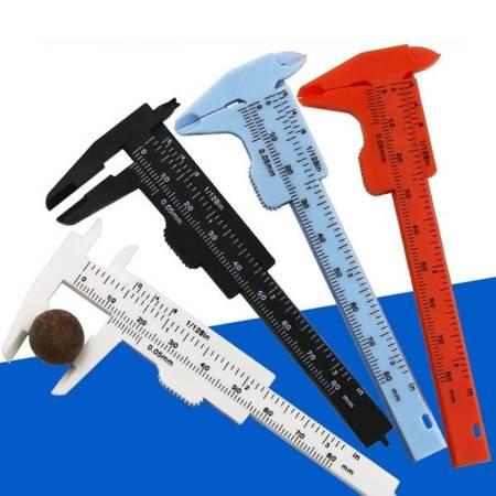Suwmiarka plastikowa Mini 0-80 mm - czarna - narzędzie do pomiaru