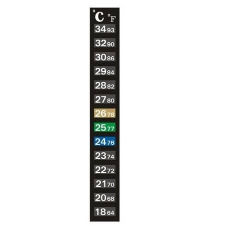 Termometr paskowy do akwarium terrarium - 18-34˚C - samoprzylepny