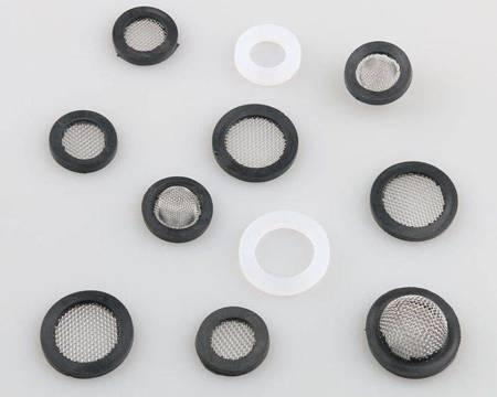 Uszczelka gumowa z filtrem wypukłym 24mm - Filtr do węża pralki - prysznica