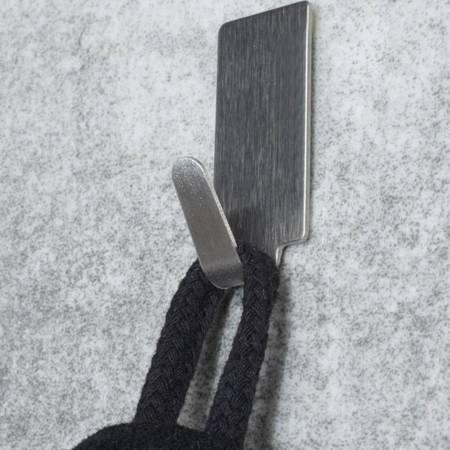 Wieszak samoprzylepny metalowy 30x15mm - haczyk - uchwyt ścienny - 6 szt